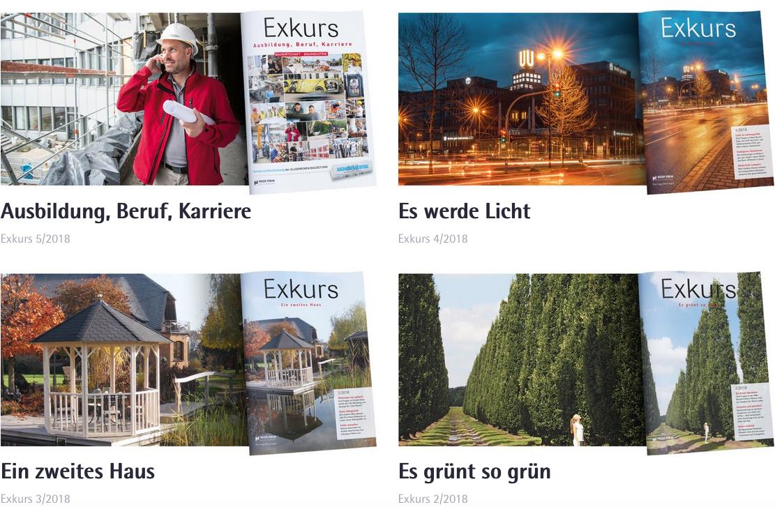 Verlagsbeilage Exkurs jetzt mit eigener Website