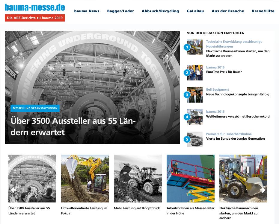 Allgemeine Bauzeitung launcht neue Schwerpunktseiten